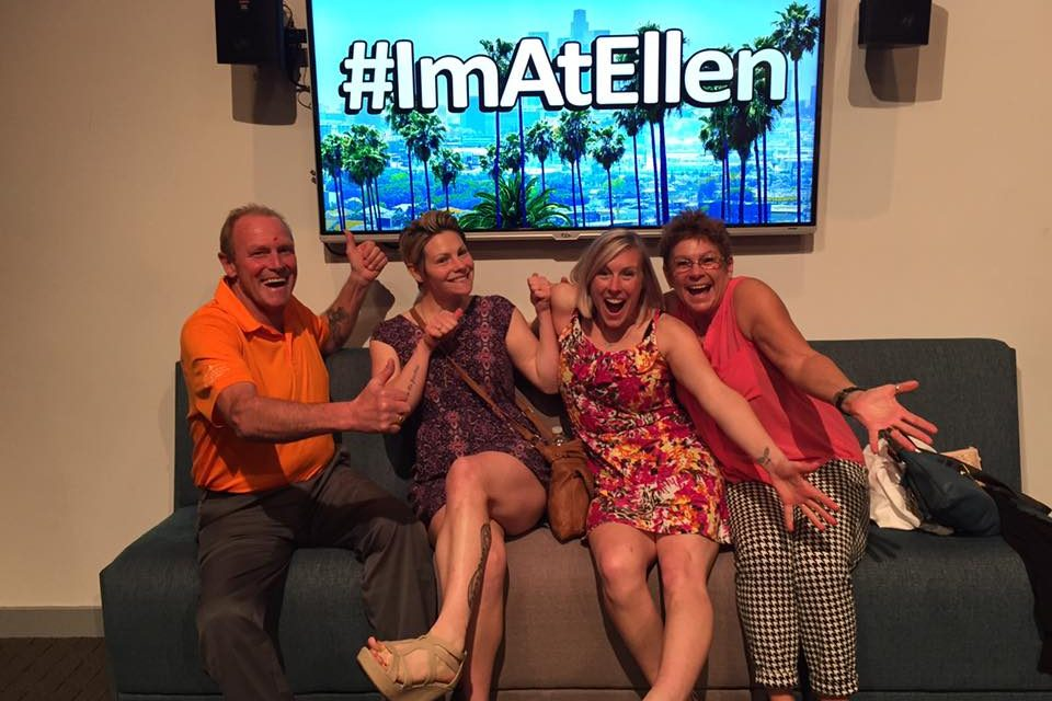 Fairmont family lucks out with Ellen
