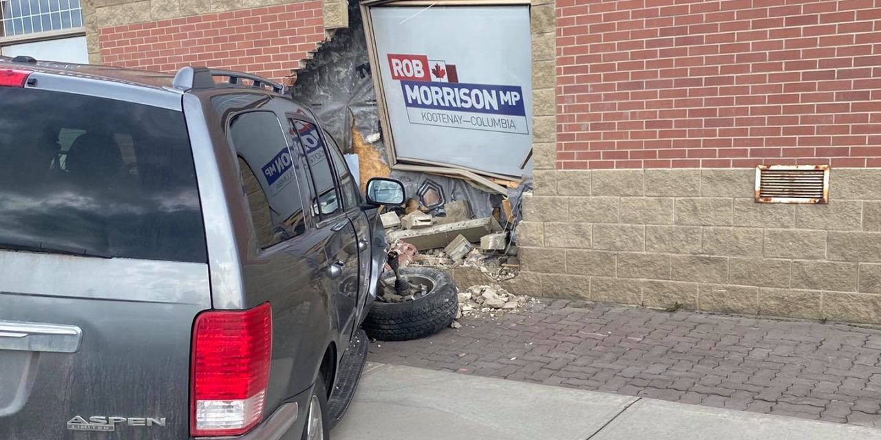 Driver crashes into MP Rob Morrison's office