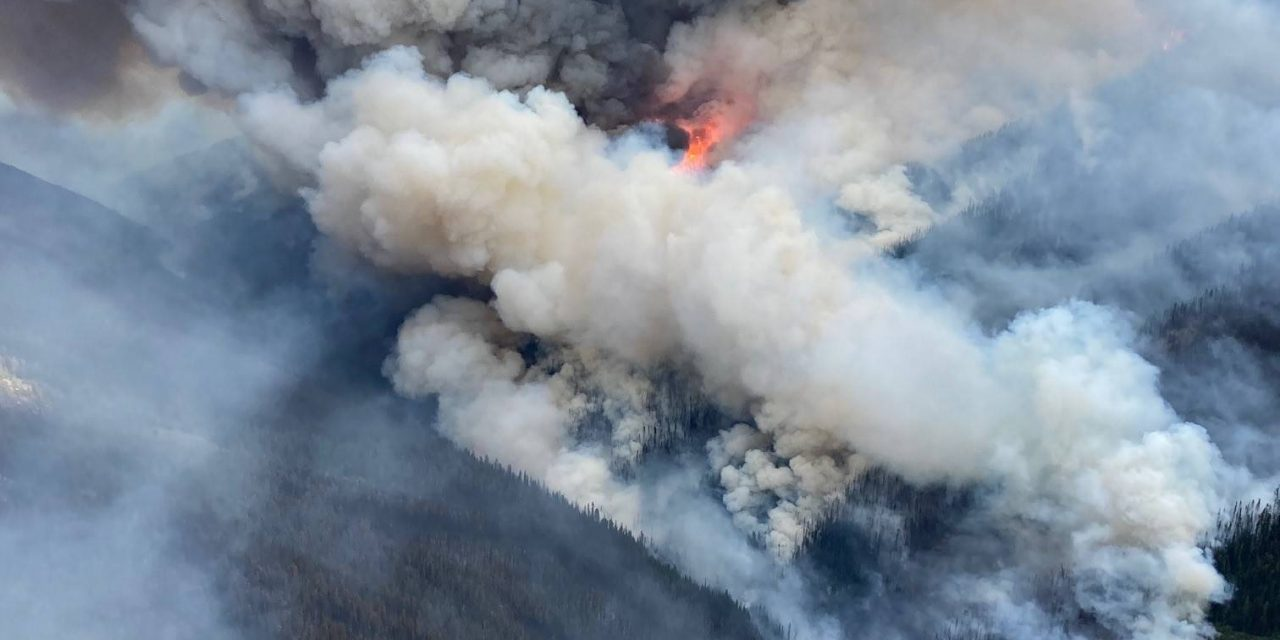 Doctor Creek wildfire doubles in size