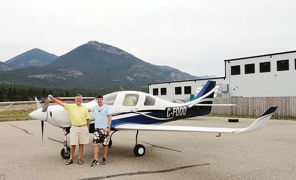 Father and son fly from PEI to Invermere