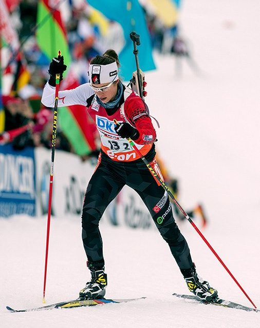 Locally connected biathlete getting solid results