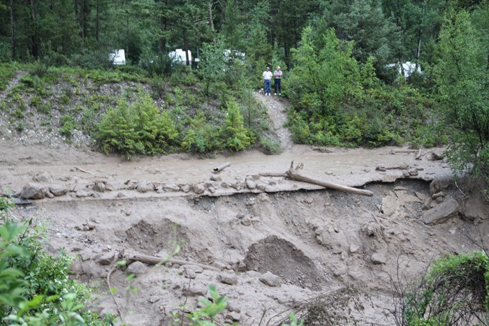 Stranded campers given access across Fairmont Creek