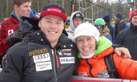 Pro skier credits his mom for getting him hooked on racing