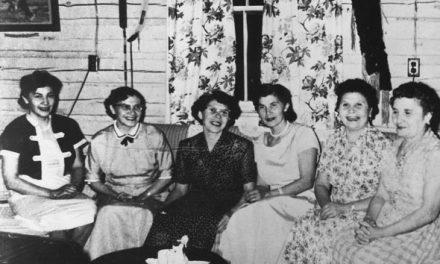 Granddaughter gathering