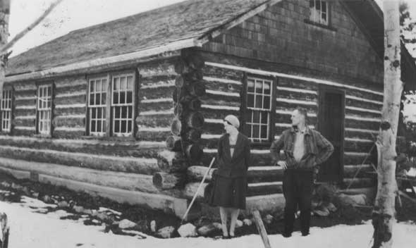 A little insight on the Laird log home