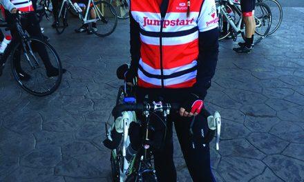 Jaimie Cote bikes 500 km for Jumpstart
