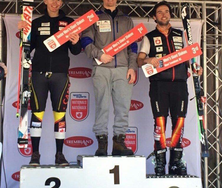 Keegan Sharp wins giant slalom at junior nationals in Quebec
