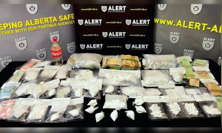 2 British Columbians arrested, 3 at large in massive Alberta drug bust