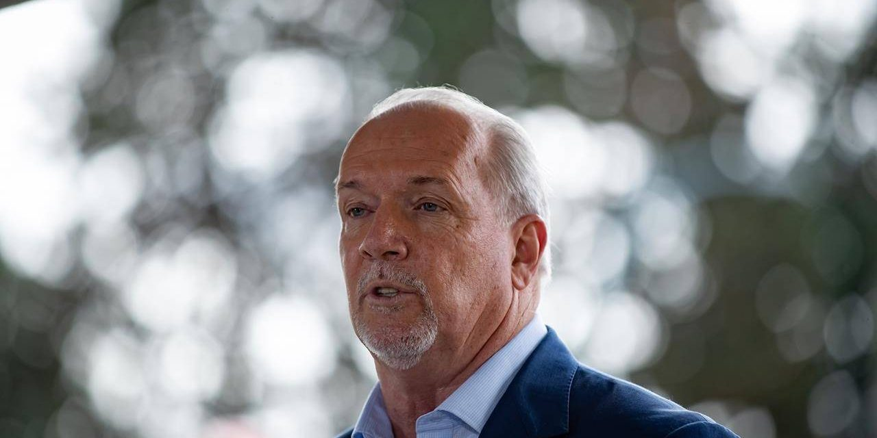 Horgan, Wilkinson trade barbs over MSP premiums, health care at campaign stops