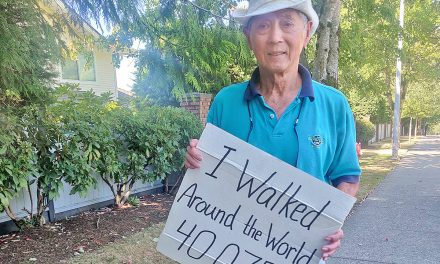 A (virtual) walk around the world by 88-year-old B.C. man