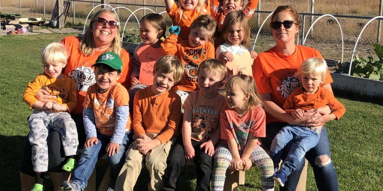 Preschoolers commemorated Orange Shirt Day