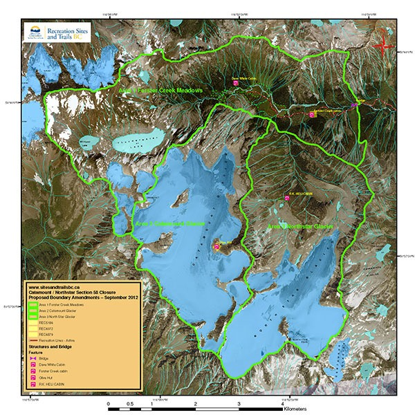 Forster Creek backcountry closures in effect
