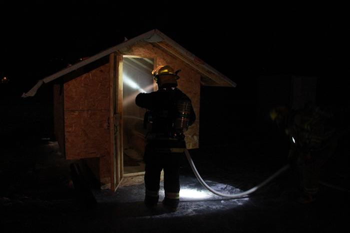 Ice fishing shack on Lake Windermere catches fire