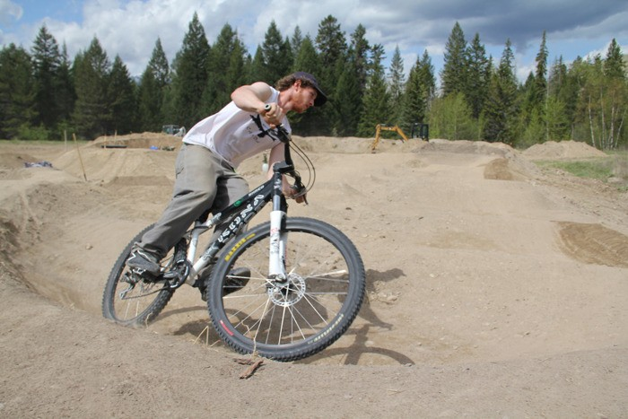 New pump track in Radium ready for May long weekend