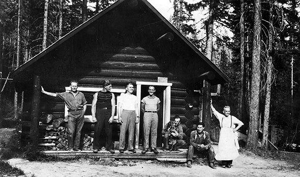 Cabin camaraderie in Kootenay National Park