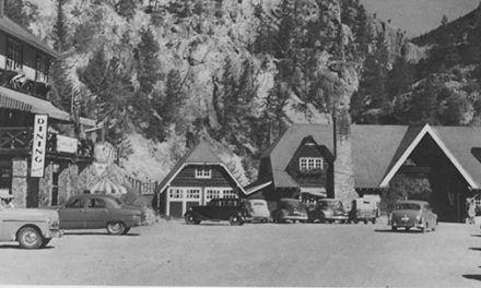 Radium Hot Springs in the late 1940s