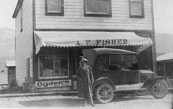 The early days of  7th Avenue in Invermere