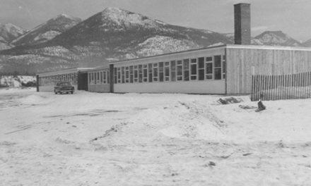 Columbia Valleys high school in 1957