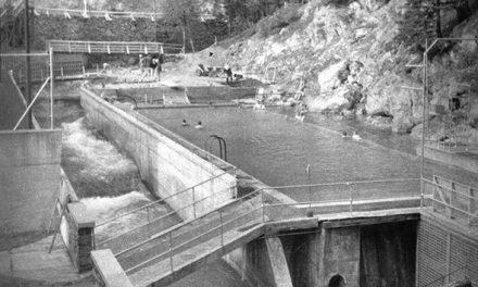 Radium Hot Springs pools, 1951