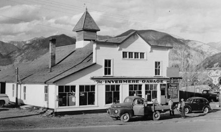Gauging good times at the Invermere Garage, mid-1940s