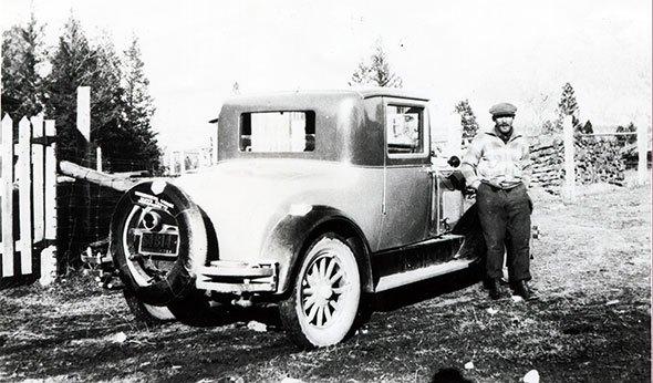 Man with car, 1928