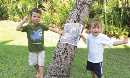 Tobias and Jack Andruschuk in Maui, Hawaii