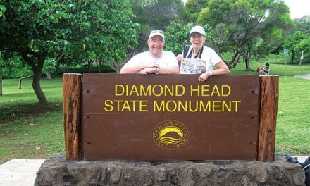 Karen and Rob Bedford in Diamond Head, Hawaii