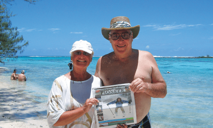 Ron and Rosemary Clarke in the Polynesian Islands