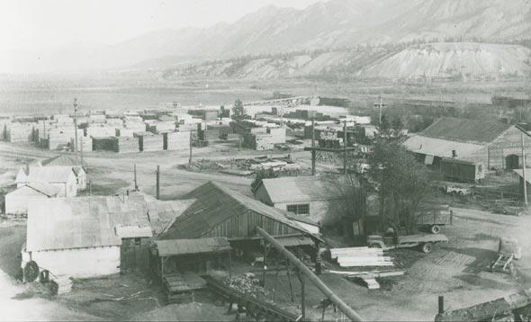 Athalmer, mill town