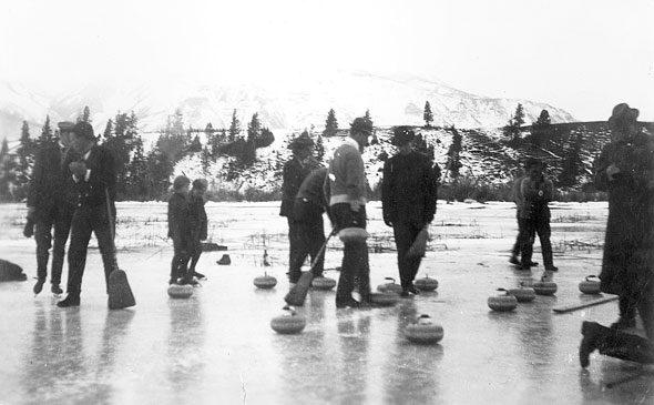 Curling on Lake Windermere, 1911