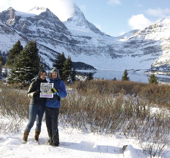 Chris and April Williams at Mt. Assiniboine Lodge.