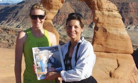 Alison Clark and Sue Crowley near Moab, Utah
