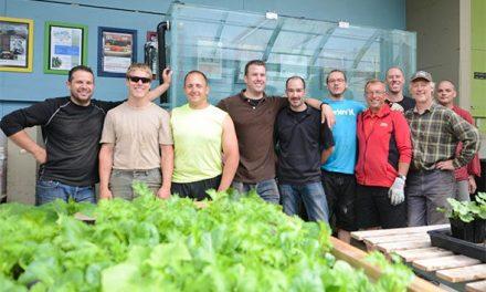 Fish tank migrates to greenhouse