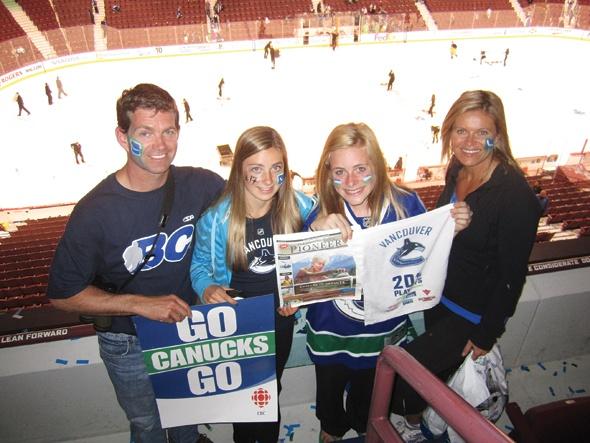 Greg and Katrina DuBois, Marhyn MacSteven and Ellen Kelly in Vancouver