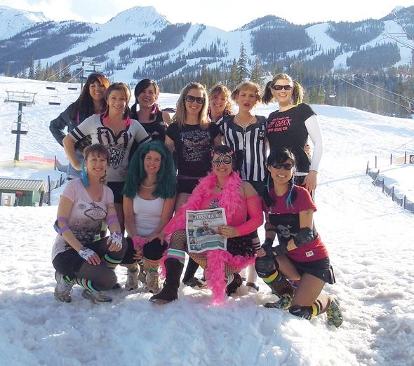 Larissa Dutcher celebrates her 40th birthday at Kicking Horse Ski Resort