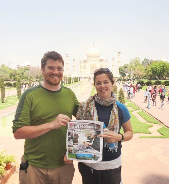 Eli Humen and Heather Brown in Agra, India.