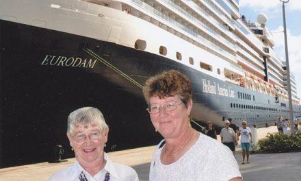 Fern Oglestone and Carol Robideau on a Caribbean Cruise