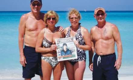 Pat and Carol Meidinger of London, Ontario (left) with Terry and Terri Hepburn of Panorama, vacationing in Varadero, Cuba