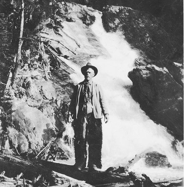 Hanging out  at Hanging  Glacier Creek, 1924