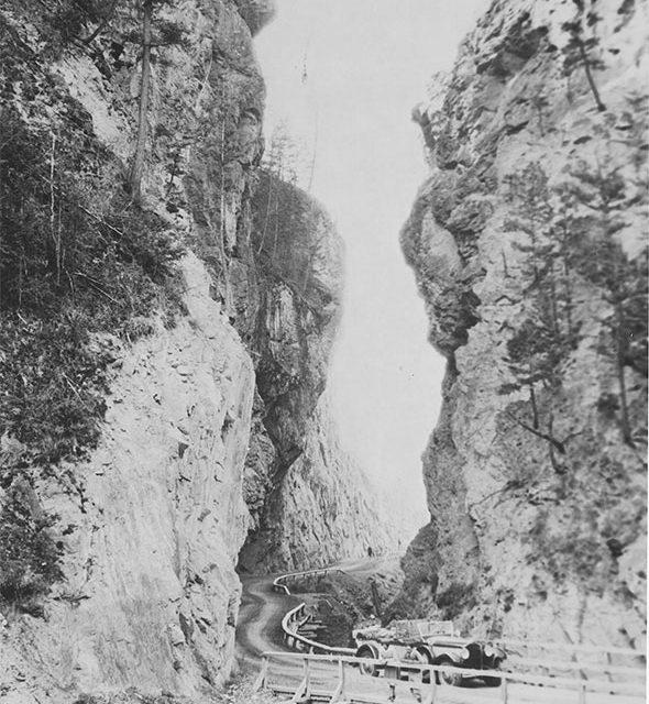 Winding through Sinclair Canyon