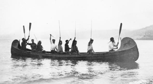 Celebrating the David Thompson Memorial Fort, 1922