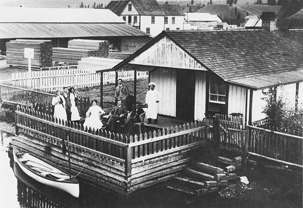 Athalmer waterfront, circa 1890