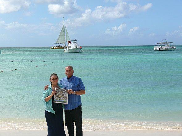 Ken and Marion Hoover in Aruba