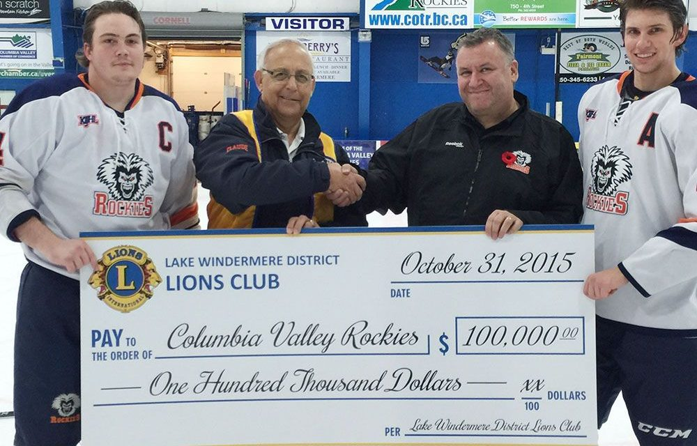 Columbia Valley Rockies score big in fundraising