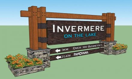 New welcome sign for Invermere