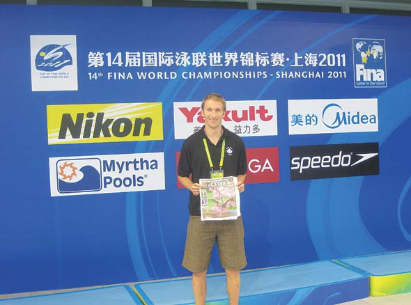 John Roberts at the FINA World Championshipd for water polo in Shanghai, China.