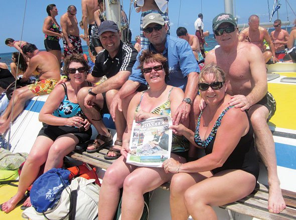Marianne and Ack Naccarto, Val and Livio De Prato, Ursula and Tony Kernaghan in Jamaica
