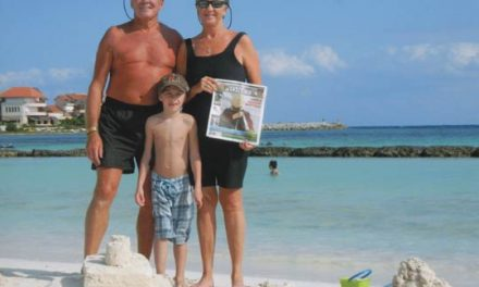 Carolyn and Ray Kolochuk with their grandson, Reuben Kolochuk, in Puerto Aventuras, Mexico