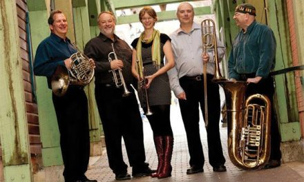 Five brass musicians bring polished sound to the valley