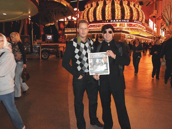 Nick and Mark Brough in Las Vegas